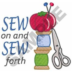 SEW ON AND SEW FORTH embroidery design