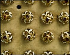 (RASCH 1254 (55:45)) Enameled buttons, c.1600. set of 76, Royal Armoury, Stockholm