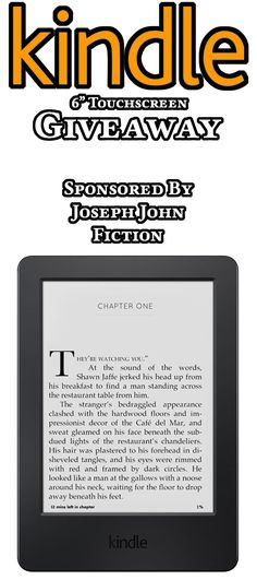 Win a 6″ Kindle with Wi-Fi & Touchscreen Display  http://www.josephjohnfiction.com/giveaways/free-kindle-giveaway/?lucky=764