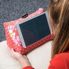 coz-e-reader® Japanese Floral Cushion Tablet Stand | GettingPersonal.co.uk