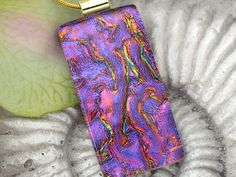 Dichroic Fused Glass Pendant  Dichroic Fused Glass by ccvalenzo,