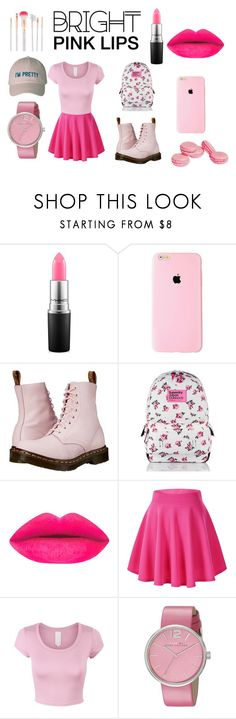 """Pink"" by ro3se ❤ liked on Polyvore featuring beauty, MAC Cosmetics, Dr. Martens, Marc by Marc Jacobs and Accessorize"