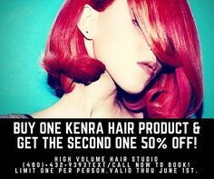 ✨��ALL K E N R A HAIR PRODUCTS ARE BUY ONE, GET ONE 50% OFF��✨ TEXT�� (480)•432•9393 OR go online: http://brookespradling.glossgenius.com to get your products today! ���������� |H I G H V O L U M E H A I R S T U D I O| #kenra #solasalonstudios #hairproduct  #phoenix #arizona #goodhairday #hairspray #hairstyles #hairgoals #hairstylist #hair #musthave #bookme #americansalon #modernsalon #behindthescenes #girlboss #btcpics  #hairbrained #beautiful #cosmetology…