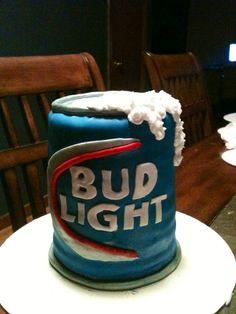 Bud light can cake