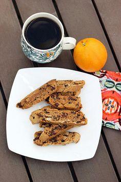 Grain-Free Orange, Almond & Dark Chocolate Biscotti - Gluten-free + Vegan by Tasty Yummies Paleo Sweets, Gluten Free Sweets, Paleo Dessert, Gluten Free Baking, Vegan Gluten Free, Dessert Recipes, Dairy Free, Vegan Desserts, Yummy Cookies