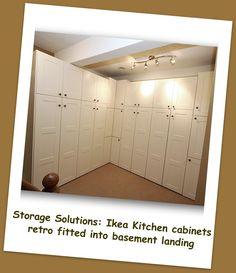 Ikea Alternate Uses: Kitchen Cabinets As Built In Storage