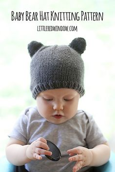 A cute pattern for a hat with little bear ears, it's available for free in one size at the link below, or you can purchase an easy to print PDF with additional size options above!
