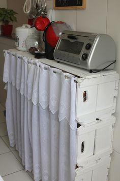 Decoração sustentável - Móvel de apoio para cozinha