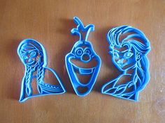 Set of 3 Frozen Cookie Cutters by Francesca4me on Etsy, $25.00