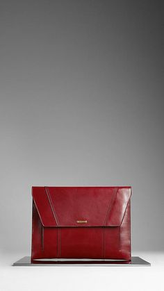 Burberry Red Bridle Leather Digital Case
