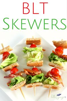 What's better than a bacon, lettuce, and tomato sandwich? A BLT sandwich on a stick! Try my 4 ingredient BLT Skewers for lunch today!