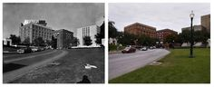 The Texas Book Depository In Dealy Plaza, Where Oswald Set Up His Sniper's Nest On The 6th Floor | Haunting Photos Of JFK Assassination Landmarks, Then And Now