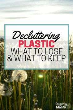 Decluttering plastic from your life? The process can be daunting and rewarding. How to go through the plastic decluttering process without being overwhelmed.