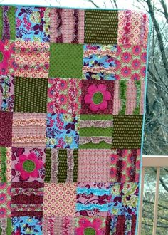"""Patchwork blanket of old things """"seam out."""" mfsterrl.blogspot.com"""