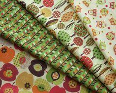 autumnal woodland fabric prints