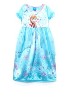 Another great find on #zulily! Blue Frozen Fantasy Nightgown - Girls #zulilyfinds