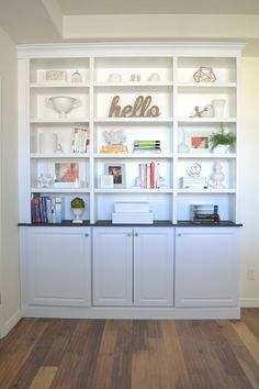 Built-In Bookcase Done!