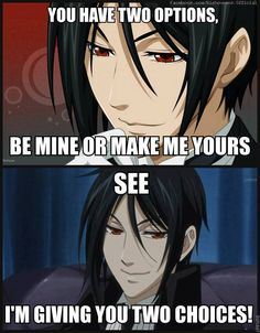 Omg the best pic-up line i've ever heard!!! Kuroshitsuji Black butler Sebastian