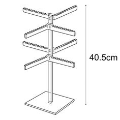 Keyring Display Stands : Keyring display manufactured from clear acrylic from Displays Necklace Holder, Wood Necklace, Jewelry Holder, Bracelet Display, Earring Display, Hair Tie Holder, Fashion Displays, Shop Fittings, Acrylic Display