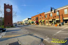 Main St. downtown Hudson, Ohio