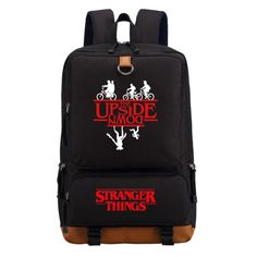 Stranger Things Clothes and Accessories with FREE World Shipping #strangerthings #finnwolfhard #milliebobbybrown #upsidedown #netflix Stranger Things Upside Down, Stranger Things Quote, Stranger Things Aesthetic, Eleven Stranger Things, Stranger Things Netflix, Animal Crossing Plush, Cute Backpacks, School Bags, Travel Bags