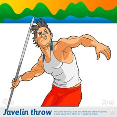 Illustration of various sports. At the Olympic Games in Rio.