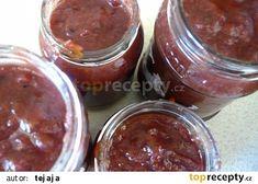 Švestkové čatní recept - TopRecepty.cz Pudding, Desserts, Food, Anna, Tailgate Desserts, Deserts, Custard Pudding, Essen, Puddings