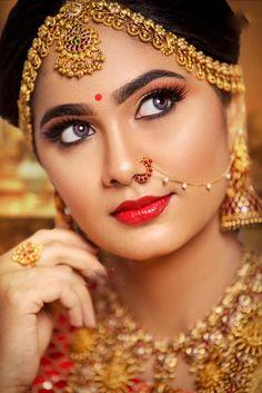 South Indian Makeup, South Indian Bride Saree, South Indian Bridal Jewellery, Indian Bridal Makeup, Indian Bridal Fashion, Indian Groom, Bridal Henna, Bridal Jewelry, Beautiful Girl Photo