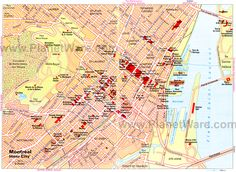 Map of Montreal Attractions Montreal Attractions, Learn To Speak French, Canada Summer, Montreal Quebec, Canada Travel, Trip Planning, Britain, Sailing, Map