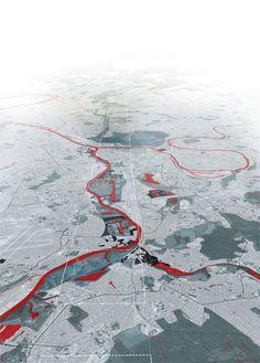 Studio 09 - Sintesi progetto Le projet d'une ville poreuse s'appuie sur une couche de lieux significatifs, un champ ouvert et incomplet, mais qui montre l'existence d'un tissu épais de lieux de références en région parisienne. Conscient de la valeur topologique de ces lieux, le projet renforce leur rôle de balise territoriale. La topographie et les eaux sont parmi les plus importants éléments de cette couche. ...