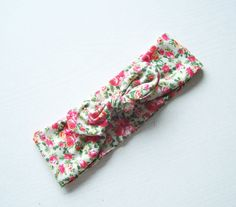 Floral Baby Knot Headband  Top Knot Headband  by IskraAccessories, $9.00