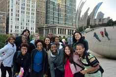 """The Chicago Allies go out on an outing, and hang with the """"Cloud Gate."""" (a.k.a. da Shiny Bean)."""