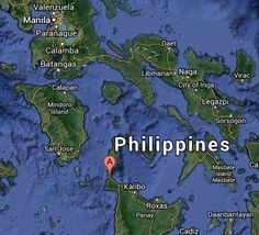Map of Boracay Island Philippines