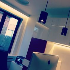 COOLFIN('s) black round    suspended #LED #DARK    project office Wetteren BE
