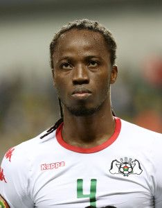 Bakary Kone of Burkina Faso during the 2017 Africa Cup of Nations Finals football match between Burkina Faso and Cameroon at the Libreville Stadium in Gabon on 14 January 2017 ©Gavin Barker/BackpagePix