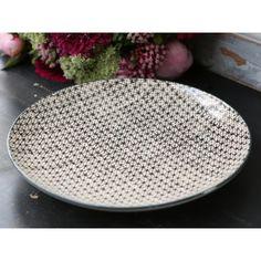 zestaw 6 ceramicznych dużych talerzy #ceramic #plate #vintage #handmade
