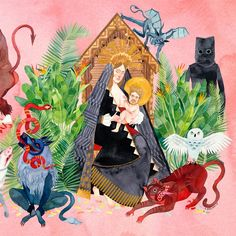 Father John Misty – I Love You, Honeybear (Sub Pop Records) Artwork by Stacey Rozich