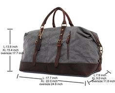 e416c5bb2940 Amazon.com  CLELO B305 Casual Canvas Weekend Travel Duffel Bag (Large
