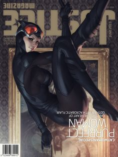 Stanley Lau - Justice Magazine Cover Catwoman