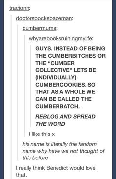 We are cumbercookies!!!!!