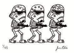 Epic Art Blog Time: Star Wars Sugar Skulls