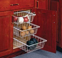 vegetable baskets for cabinets