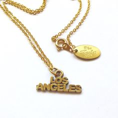 """Los Angeles by Flea Market Girl boho necklace LA Amazing new without tags """"Los Angeles"""" pendant necklace made by Flea Market Girl. Brass on chain Flea Market Girl Jewelry Necklaces"""