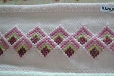 Discover thousands of images about Resultado de imagem para bargello hardanger Hardanger Embroidery, Hand Embroidery Stitches, Ribbon Embroidery, Cross Stitch Embroidery, Embroidery Patterns, Cross Stitch Bookmarks, Cross Stitch Borders, Cross Stitch Designs, Cross Stitch Patterns