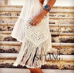Elegant Fresh Bohemian Weave Tassel Hollow Shoulder Bag Messenger Bag only $33.99 in ByGoods.com!