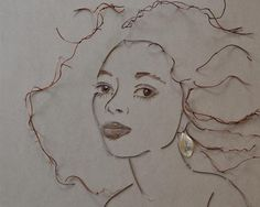 Diana Ross Flower Face Print #facethefoliage by vicki rawlins