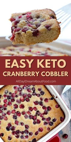 Easy keto almond flour cake studded with juicy cranberries! Low Calorie Desserts, Ketogenic Desserts, Diabetic Desserts, Keto Snacks, Easy Desserts, Keto Dessert Easy, Healthy Dessert Recipes, Keto Recipes, Sugar Free Deserts