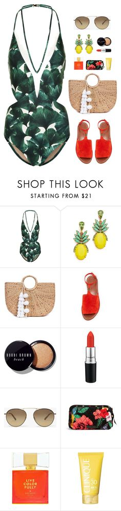 """""""Tropical Paradise"""" by elliejd ❤ liked on Polyvore featuring ADRIANA DEGREAS, Elizabeth Cole, JADE TRIBE, Tory Burch, Bobbi Brown Cosmetics, MAC Cosmetics, Vera Bradley, Kate Spade, Clinique and TropicalVacation"""