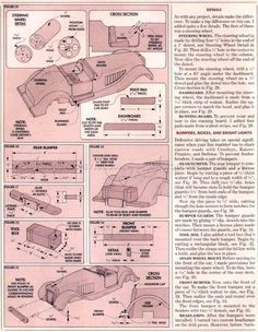 #1207 Wooden Roadster Plans - Children's Wooden Toy Plans and Projects