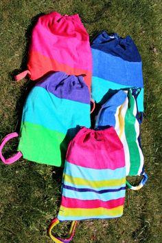 Towel Backpacks https://www.etsy.com/shop/ConasCreations